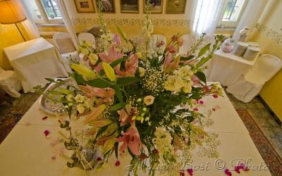 Addobbo floreale festa matrimonio Palazzo Manzoni San Zaccaria
