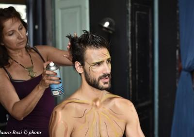 Lorenzo Soleri sul set di Clizia