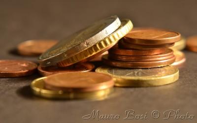 Macro fotografia di monete