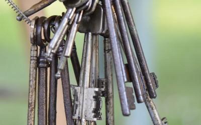 Mazzo di vecchie chiavi