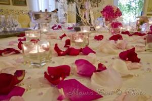 Addobbo floreale banchetto nuziale Palazzo Manzoni