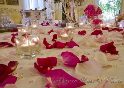 Petali di rosa per festa di matrimonio, Palazzo Manzoni, San Zaccaria, Ravenna