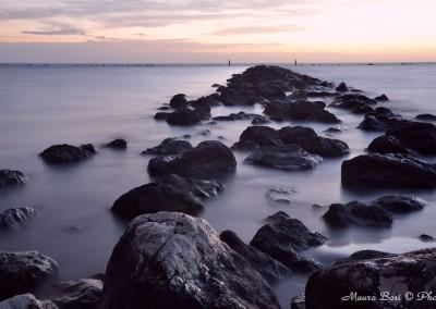 Scogli all'alba a Punta Marina