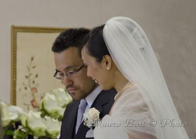 Rie e Atsuo, sposi a San Pietro in Campiano