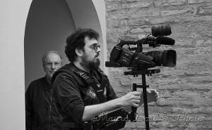 foto dal set del cortometraggio Lo Scrivente