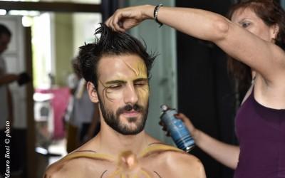 """Lorenzo """"sole"""" Soleri al trucco sul set di Clizia"""