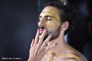 Apollo (Lorenzo Soleri) sul set di Clizia