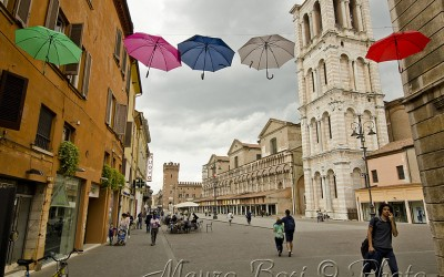 Ferrara, piove