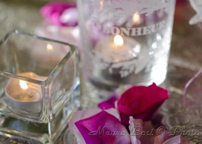 Candele per festa di matrimonio a Palazzo Manzoni