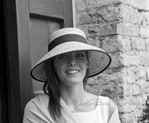Matrimonio testimone cappello paglia