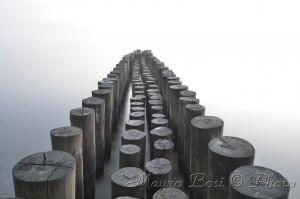 Pontile effetto metallico spiaggia Cervia Milano Marittima