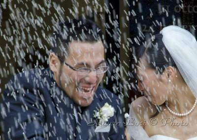 Rie e Atsuo, pioggia di riso