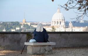 Dal Gianicolo verso San Pietro