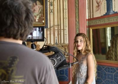 Venere alias Asia Galeotti, in una pausa riprese a Palazzo Milzetti (Faenza)